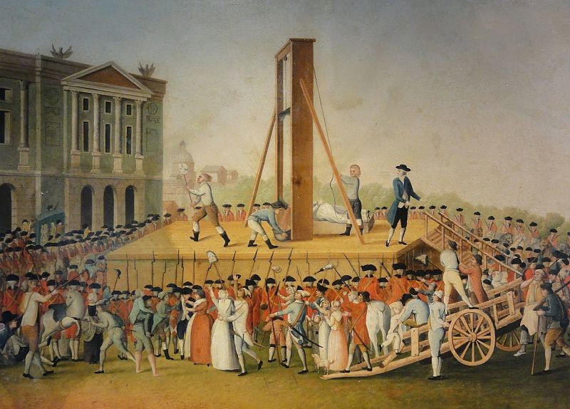 Guillotine executions were embedded in popular culture