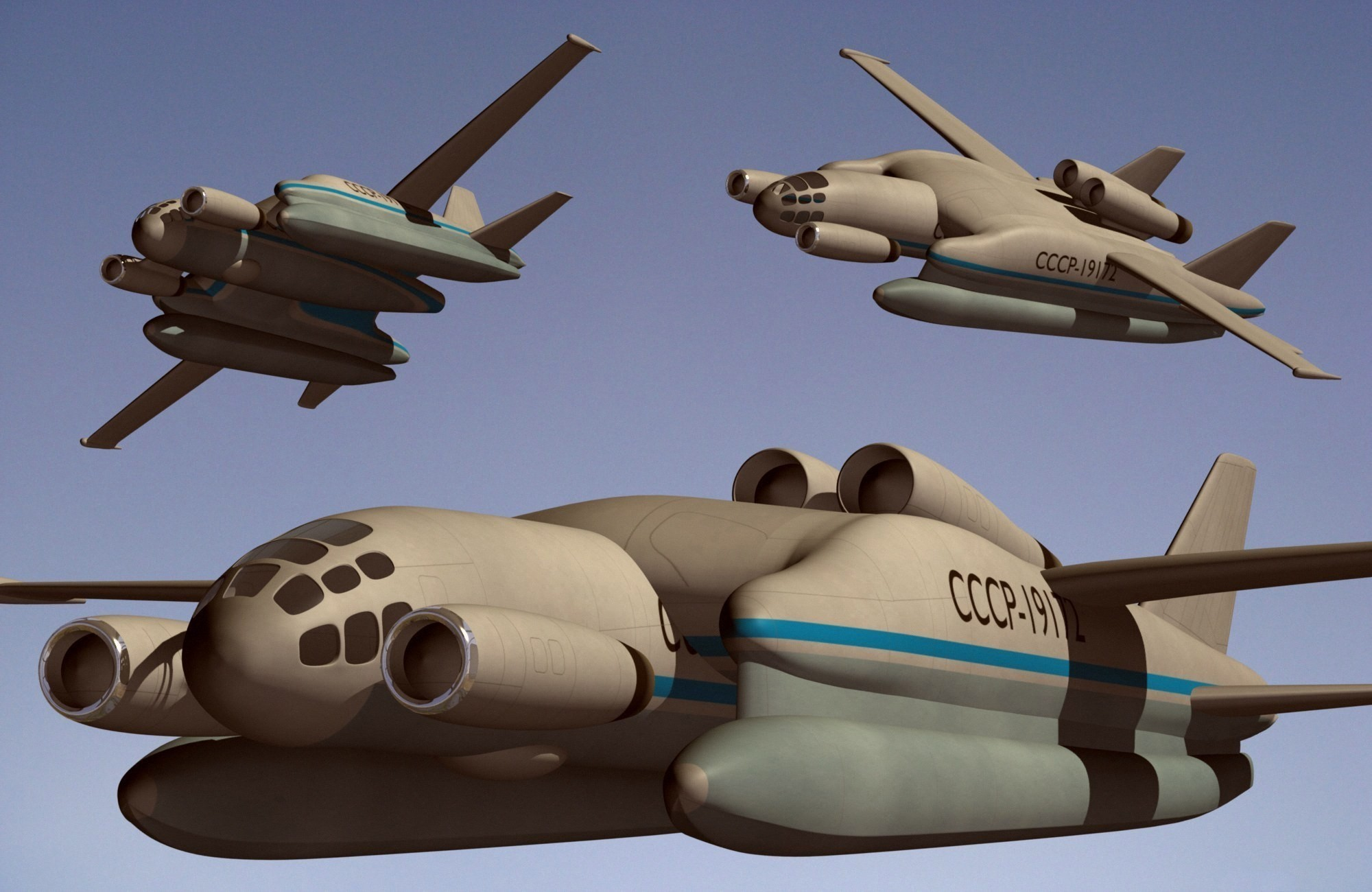 Development of Ekranoplans - Page 3 The-Bartini-Beriev-VVA-14-was-actually-designed-by-an-Italian.