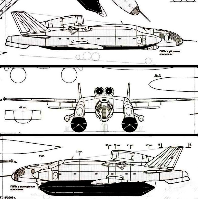 Development of Ekranoplans - Page 3 The-prototype-for-the-Bartini-Beriev-VVA-14-was-built-in-1972.